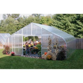 26x12x48 Solar Star Greenhouse w/Poly Ends and Drop-Down Sides, Prop Heater