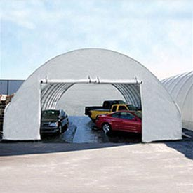 Standard 20'W Solid End Panel - White for Econoline buildings