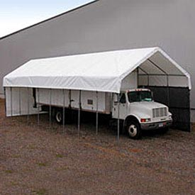 Daddy Long Legs Canopy 1670RV10W10, 16'W x 70'L, White