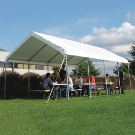 WeatherShield Commercial Canopy 18'W x 30'L Tan