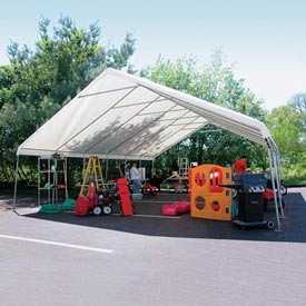 WeatherShield Giant Commercial Canopy 24'W x 40'L Green