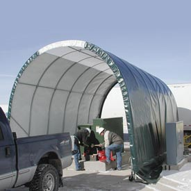 SolarGuard Freestanding Building 12'W x 8'H x 20'L on Wheels White