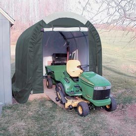 Mini Garage/Storage Shed 8'W x 8'H x 12'L Green by