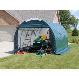 Mini Garage/Storage Shed 10'W x 8'H x 18'L Gray by