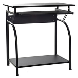 OneSpace 50-1001 Stanton Computer Desk with Pull-Out Keyboard Tray, Black by