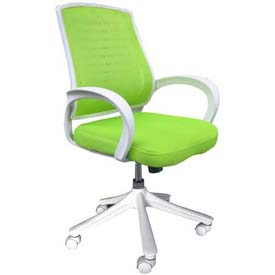 Iona Mesh Chair with White Frame, Apple Green Seat & Back