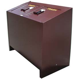 BearSaver BE Series 140 Gal. Animal Resistant Double Waste Receptacle - Brown