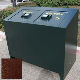 BearSaver BE Series 140 Gal. Animal Resistant Waste/Recycling Receptacle - Brown