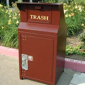 BearSaver CE Series 40 Gal. Animal Resistant Waste/Recycling Receptacle - Brown
