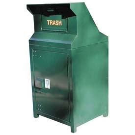 BearSaver CE Series 40 Gal. Animal Resistant Waste/Recycling Receptacle - Green