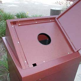 BearSaver H/A® Series 40 Gal. Animal Resistant Recycling Receptacle - Brown