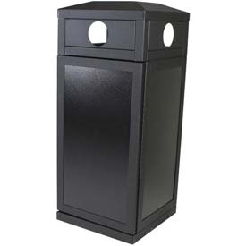 SECURR® Sentinel 36 Gal. Outdoor Recycling Receptacle - Black