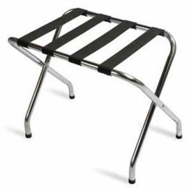 Flat Top Zinc Luggage Rack with Black Straps, 1 Pack
