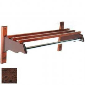 "30"" Stylish Wood Coat Rack w/ Wood Top Bars & 1"" Hanging Rod, Mahogany"