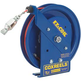 Coxreels EZ-SD-75-1 Safety Spring Rewind Static Discharge Cord Reel, 75' Cord, w/50A Ground Clamp