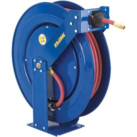 """Safety Series Spring Rewind Hose Reel For Air/Water: 1/2"""" I.D., 100' Hose, 300 PSI by"""