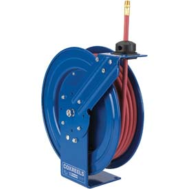 "Spring Rewind Hose Reel For Air/Water/Oil: 1/4"" I.D., 10' Hose Capacity, Less Hose, 300 PSI"
