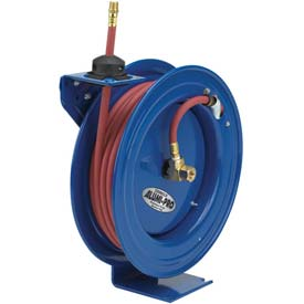 "Spring Rewind Hose Reel For Air/Water: 3/8"" I.D., 50' Hose Capacity, Less Hose, 300 PSI"