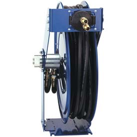 50' Dual Hydraulic Spring Retractable Hose Reel 3000 psi With Hose
