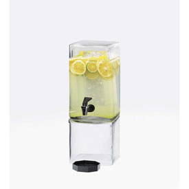 """Cal-Mil 1112-1 Square Clear Beverage Dispenser 1-1/2 Gallon 7-1/8""""W x 9-1/8""""D x... by"""