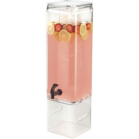 """Cal-Mil 1112-5AINFH Classic Acry. Beverage Dispenser Inf. Chamber 5G. 8-7/8""""W x... by"""