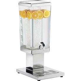 """Cal-Mil 1282-3A Stainless Square Beverage Dispenser 3 Gallon Capacity 14""""W x... by"""