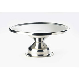 "Cal-Mil 1308 Stainless Steel Cake Stand Riser 12"" Dia. x 7""H by"