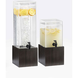 """Cal-Mil 1527-1-96 Midnight Acrylic Beverage Dispenser 1-1/2 Gallon 8-1/8""""W x... by"""