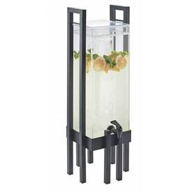 """Cal-Mil 3302-3-74 One by One Acrylic Beverage Dispenser W/Ice Chamber Slv Frame 9""""W x... by"""
