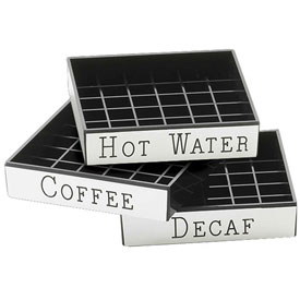 "Cal-Mil 632-2 Decaf Engraved Drip Tray 4""W x 4""D Package Count 12 by"