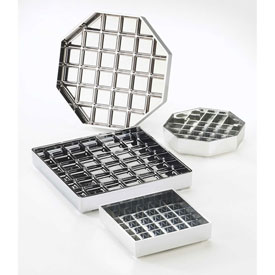 "Cal-Mil 681-6-13 Classic Square Drip Tray Black 6""W x 6""D x 1""H Package... by"