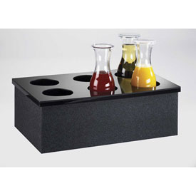 "Click here to buy Cal-Mil 707-12 Carafe Collars 12""W x 20""D, Black."