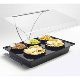 "Cal-Mil 728-13 5 Bowl Mini Salad Bar Food Station 18""W x 26""D x 4""H Black by"