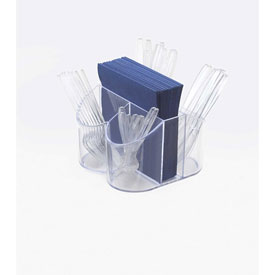 """Cal-Mil 910 Classic Flatware & Napkin Display 8""""W x 8""""D x 5""""H Package Count 4 by"""