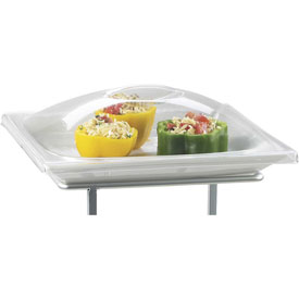 """Cal-Mil DM252 Round Clear Covers for Platter 12""""W x 12""""D x 2""""H Package Count 6 by"""