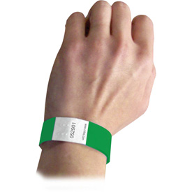 C-Line Products DuPont Tyvek Security Wristbands, Green, 100/PK Package Count 2 by
