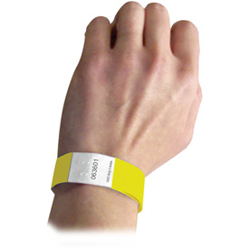 C-Line Products DuPont Tyvek Security Wristbands, Yellow, 100/PK Package Count 2 by