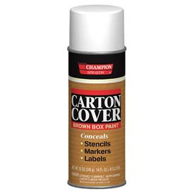 Champion Sprayon® Carton Cover Brown Box Paint 12 Cans/Case 12 Cans/Case - 438-0982
