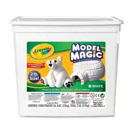 Crayola® Model Magic Clay, 2 lb., White, 1 Each