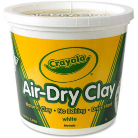Crayola® Air-Dry Clay, 5 lb. Bucket, White, 1 Each