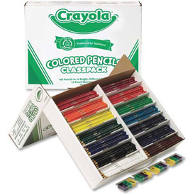 Crayola® Colored Pencils Classpack, 14 Assorted Colors, 462/Box