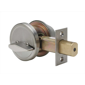 "Copper Creek Grade 2 Single Cylinder Deadbolt, 2-1/2""L x 1-1/8""H x 1-1/16""D, Satin Stainless"