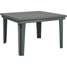 """Generations 46"""" Square Dining Table, Slate, 47""""L x 47""""W x 31""""H"""
