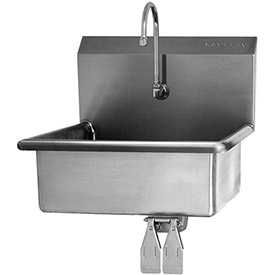 SANI-LAV 504 Wall Mount Sink With Double Knee Pedal Valve