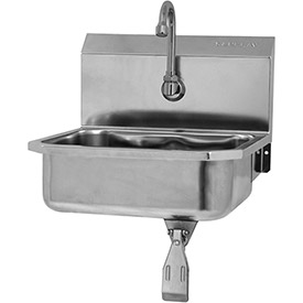 SANI-LAV 605L Wall Mount Sink With Single Knee Pedal Valve