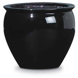 "OfficeScapesDirect 13"" Fiberglass Fish Bowl - Black"