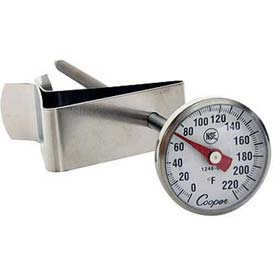 """Cooper-Atkins Espresso Thermometer, 1236-70-1, With Clip, 1"""" Dial, 5"""" Stem, Nsf... by"""