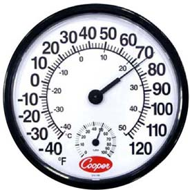 Cooper-Atkins 212-150-8 Thermometer, Wall, Temperature/Humidity by