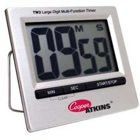 Cooper-Atkins Multi-Function Timer, Tw3-0-8, Large Digit Min Count 4 by