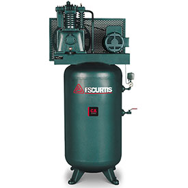 Buy FS-Curtis FCA07E57V8S-A2L1XX, 7.5HP, Two-Stage Piston Comp., 80 Gal, Vertical, 175 PSI, 1-Phase 230V